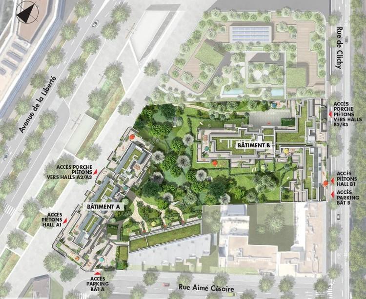 Plan masse du programme immobilier neuf Vogue à Saint-Ouen
