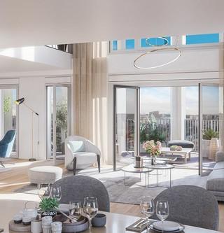 Appartement duplex du programme immobilier neuf Le Berlier à Paris 13