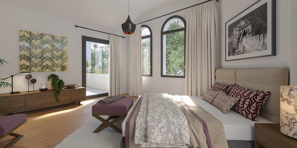 Chambre d'un appartement du programme immobilier Bac-Raspail-Grenelle à Paris 7