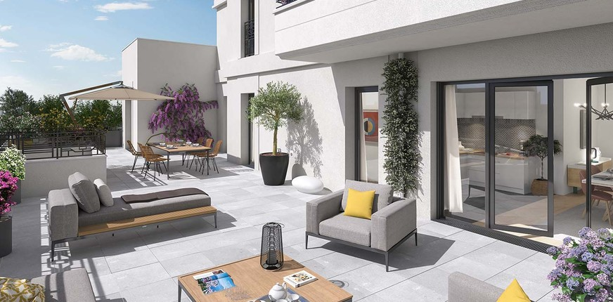 Vogue à Saint-Ouen : terrasse de jour