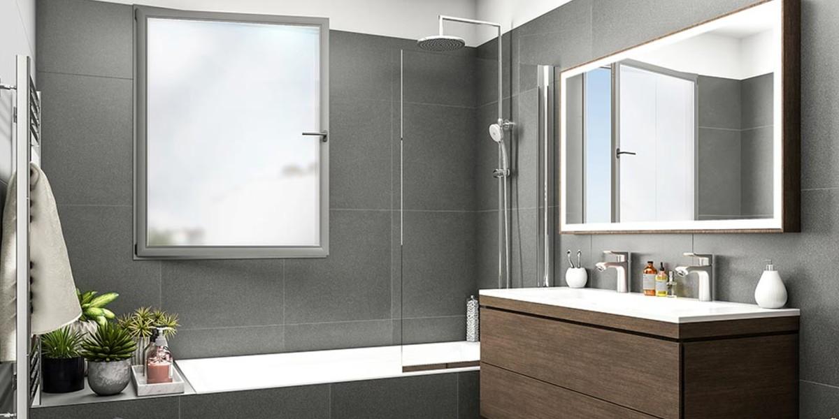 Salle de bains du programme immobilier neuf Passage Oberkampf