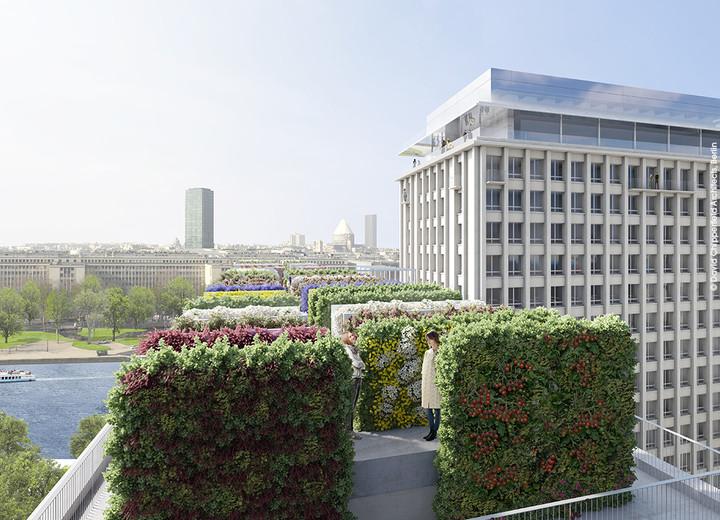 """Agriculture urbaine en toiture du programme immobilier """"Rue Agrippa d'Aubigné"""""""