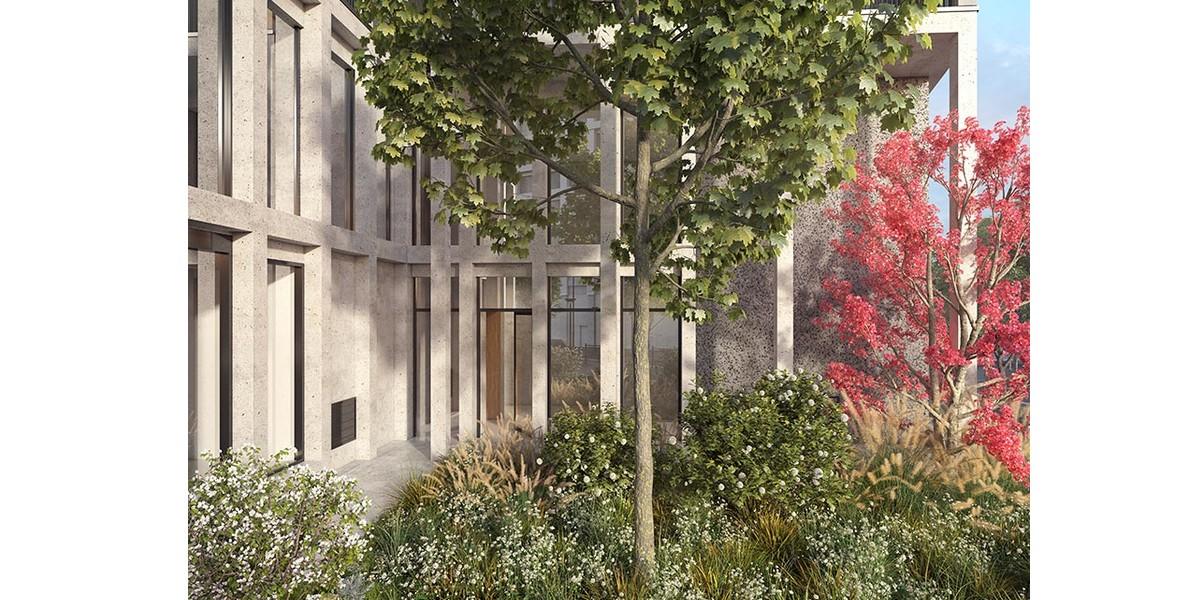 Jardin de pluie du programme immobilier neuf Le Berlier à Paris 13