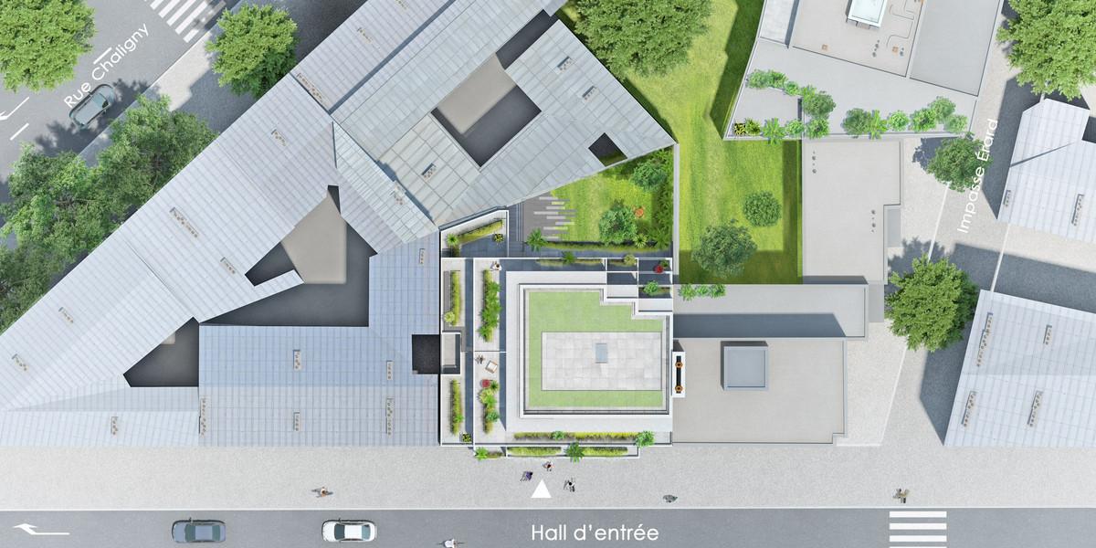 Plan masse du programme immobilier neuf 5 Rue Erard à Paris 12