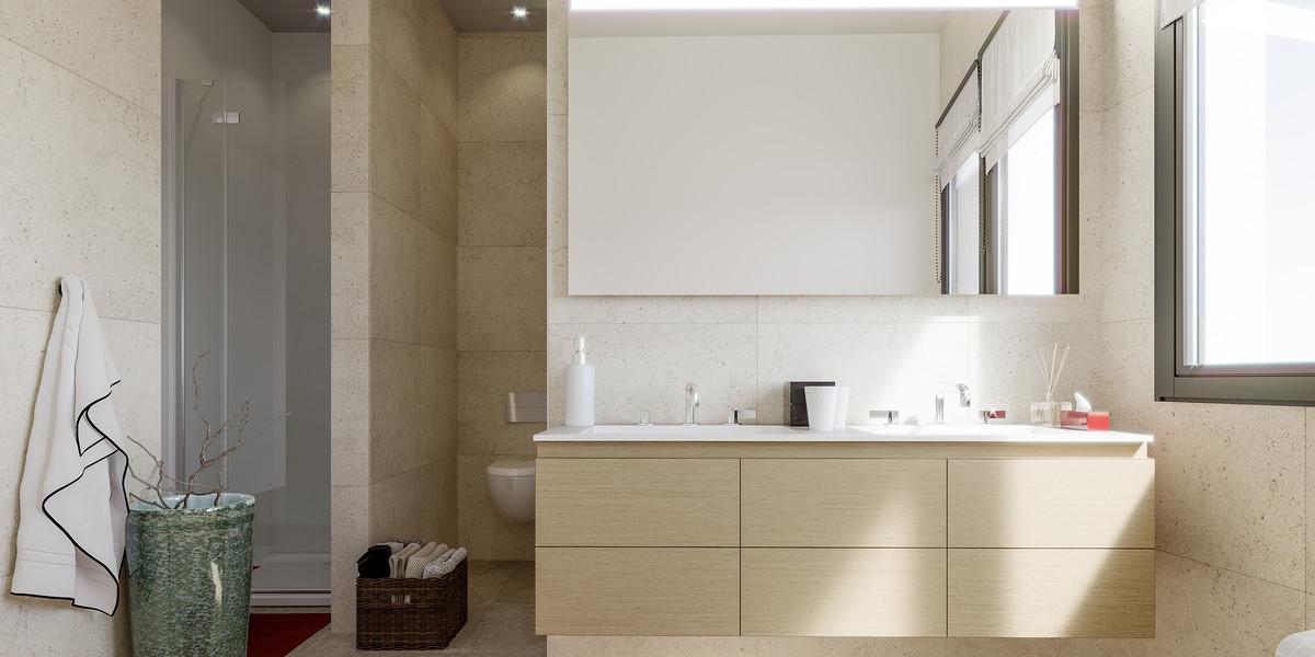 Salle de bains d'un appartement du programme immobilier Bac-Raspail-Grenelle