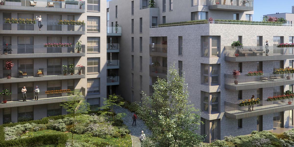 Coeur d'îlot du programme immobilier neuf Carré de l'Arsenal à Rueil-Malmaison