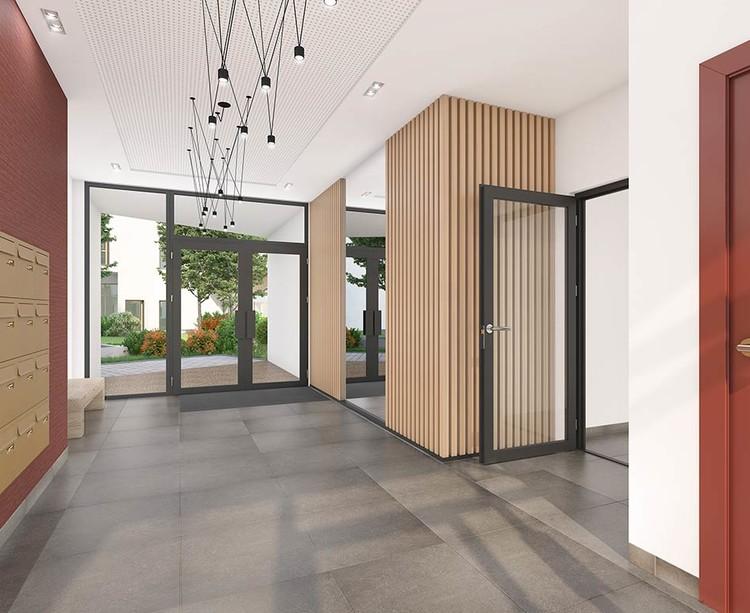 Hall d'entrée du programme immobilier Les Allées Maria Casarès à Gennevilliers