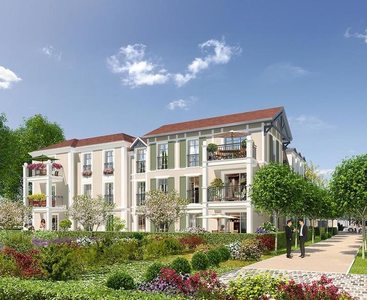Coeur d'îlot du programme immobilier neuf Avenue Lecomte à Villiers-sur-Marne
