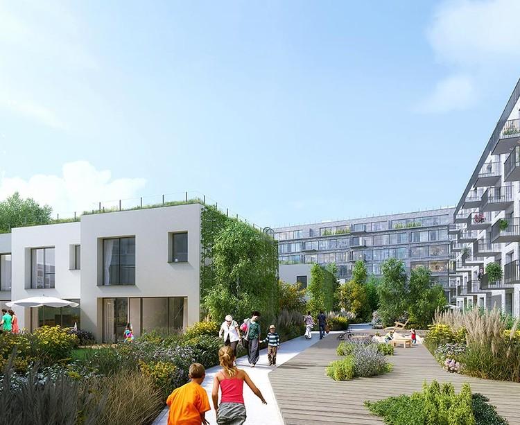 Maisons en coeur d'îlot du programme immobilier neuf 26 Quai de l'Aisne à Pantin