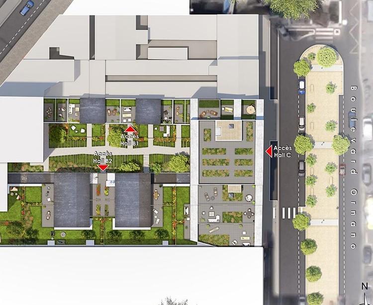 Plan masse du programme immobilier neuf 14 Ornano à Saint-Denis