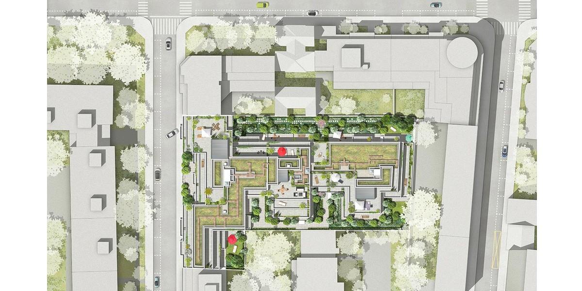 Plan masse du programme immobilier 120 Danton à Levallois