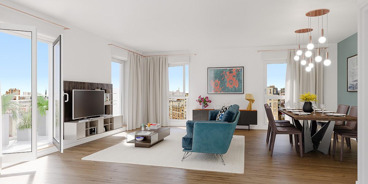 Appartement du programme immobilier neuf 21 Jean Jaurès à Gentilly