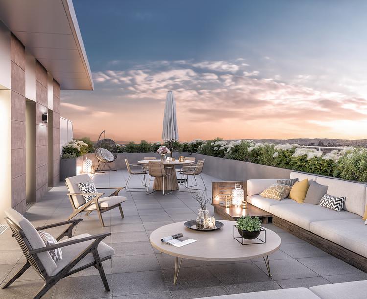 Terrasse d'un appartement neuf du programme immobilier Rue Tronchet à Palaiseau