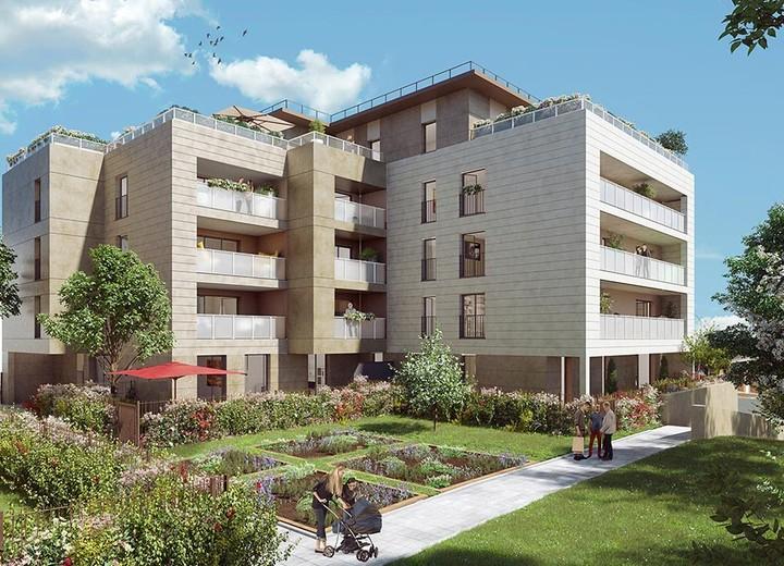 Jardin du programme immobilier neuf Rue Tronchet à Palaiseau