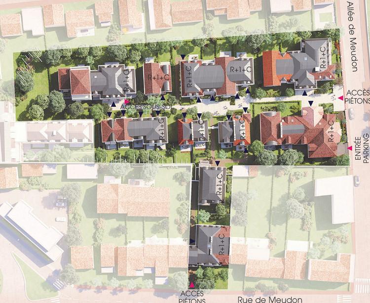 Plan masse du programme immobilier neuf Allée de Meudon à Clamart