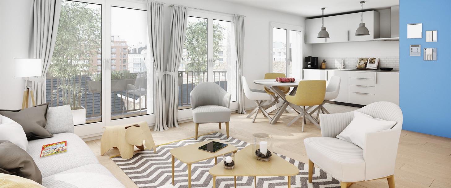 Appartement du programme immobilier neuf Quartier des Arts à Puteaux