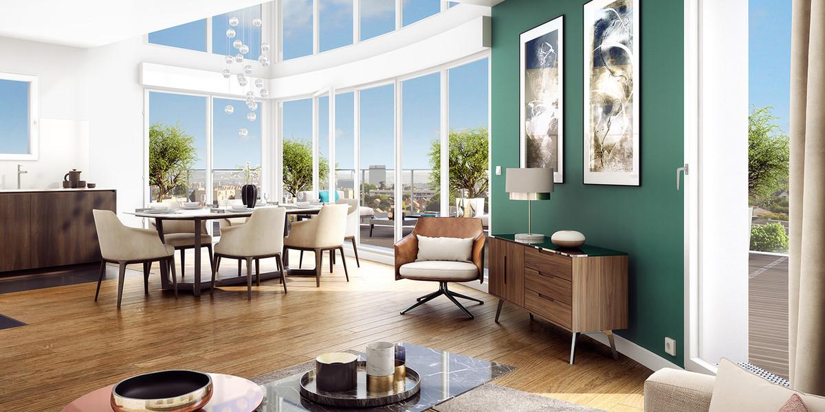 Appartement double hauteur du programme immobilier neuf Carré de l'Arsenal à Rueil-Malmaison