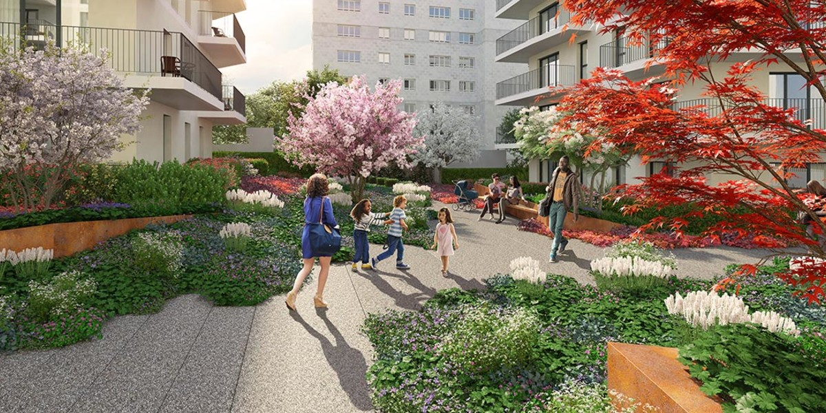 Jardin du programme immobilier neuf 1 Rue de Craïova à Nanterre
