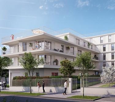 Coeur d'îlot du programme immobilier neuf Rue Edouard Renard à Pantin