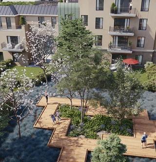 Coeur d'îlot du programme immobilier neuf 1 Rue Roussel à Saint-Maur-des-Fossés