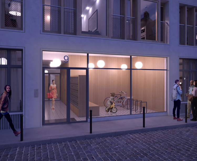 Hall d'entrée du programme immobilier neuf 9 Charrière à Paris 11