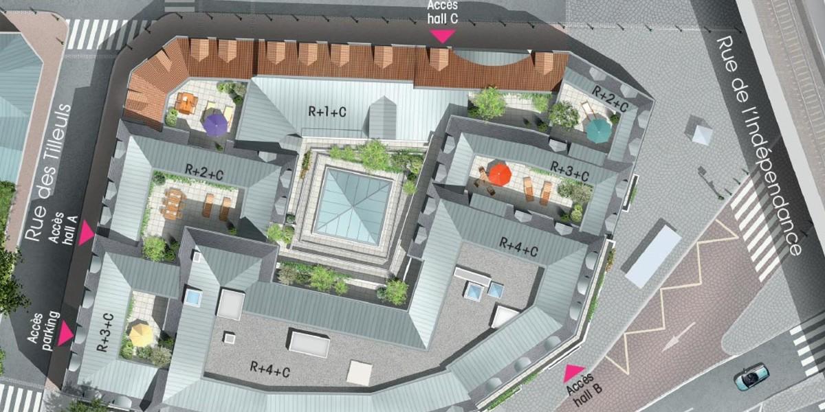 Plan masse du programme immobilier neuf 3 rue Saint-Denis à Colombes