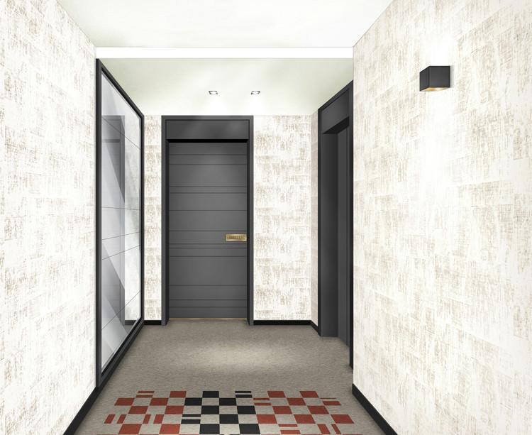 Palier d'étage du programme immobilier neuf Quartier des Arts à Puteaux