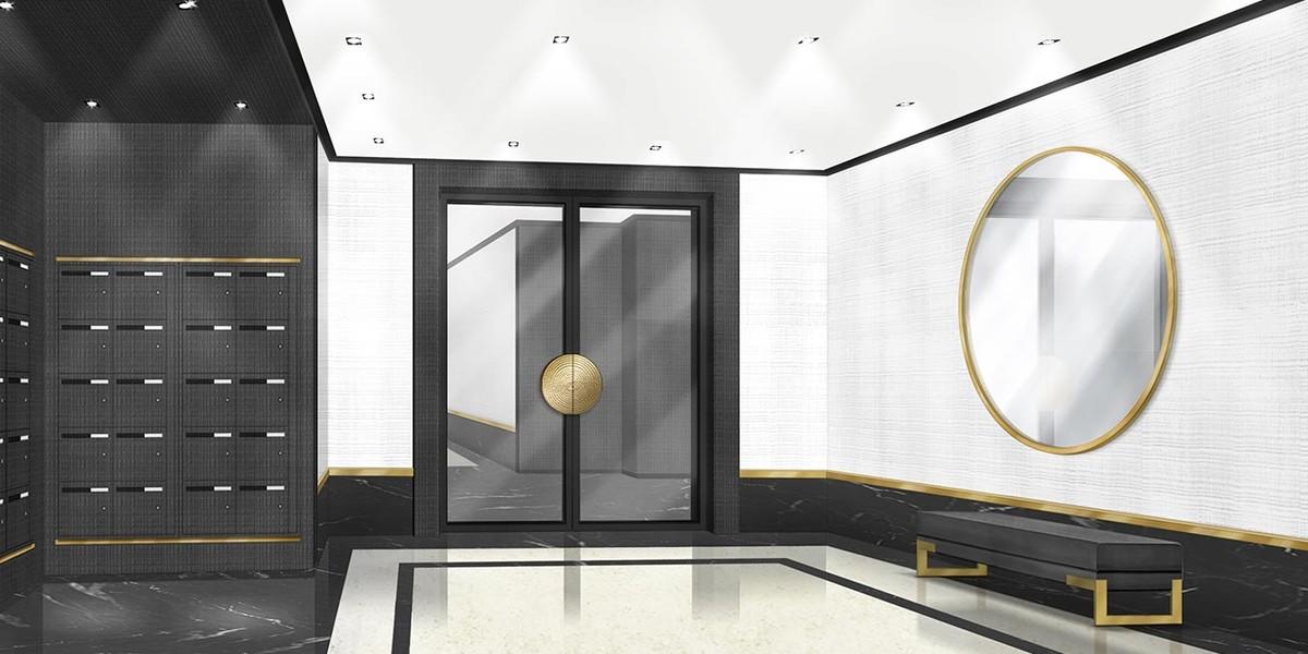 Hall d'entrée du programme immobilier 3 rue Jacques Decour à Suresnes
