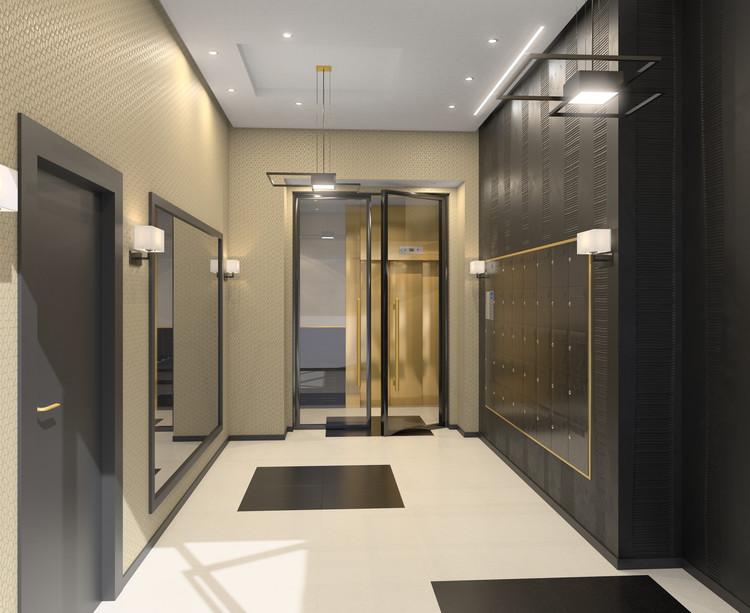 Hall d'entrée du programme immobilier neuf Vogue à Saint-Ouen