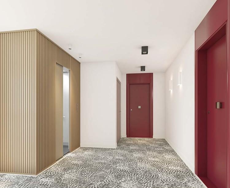 Palier d'étage du programme immobilier Les Allées Maria Casarès à Gennevilliers