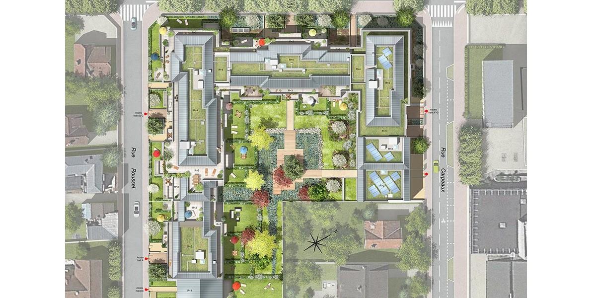 Plan masse du programme immobilier neuf 1 Rue Roussel à Saint-Maur-des-Fossés