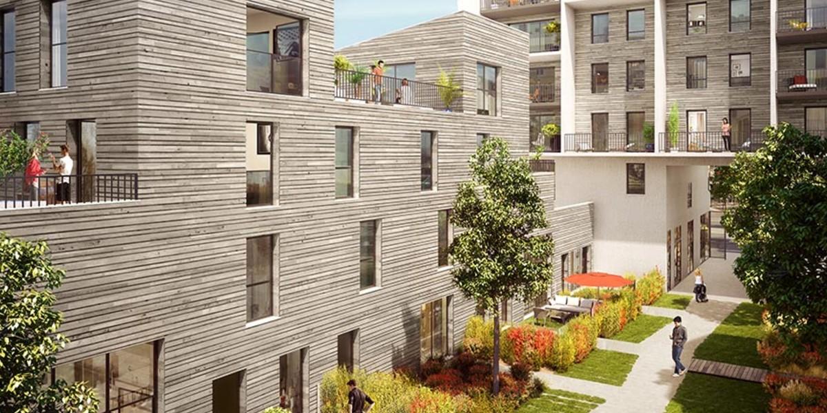 Coeur d'îlot du programme immobilier neuf 14 Ornano à Saint-Denis