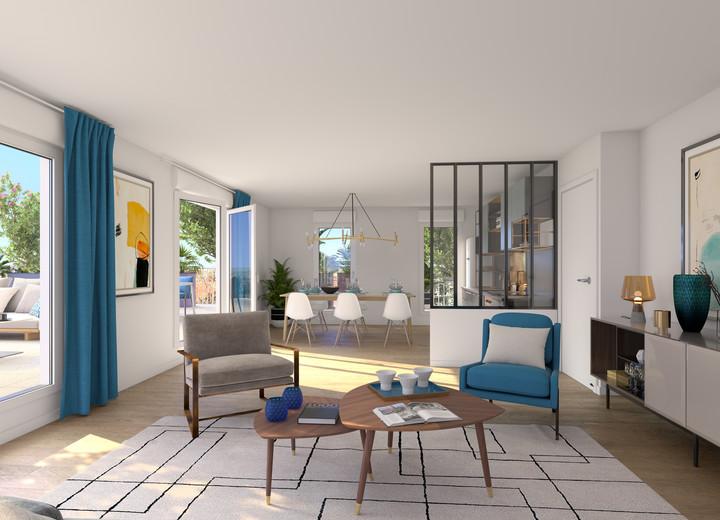 Prestations du programme immobilier neuf Rue Edouard Renard à Pantin