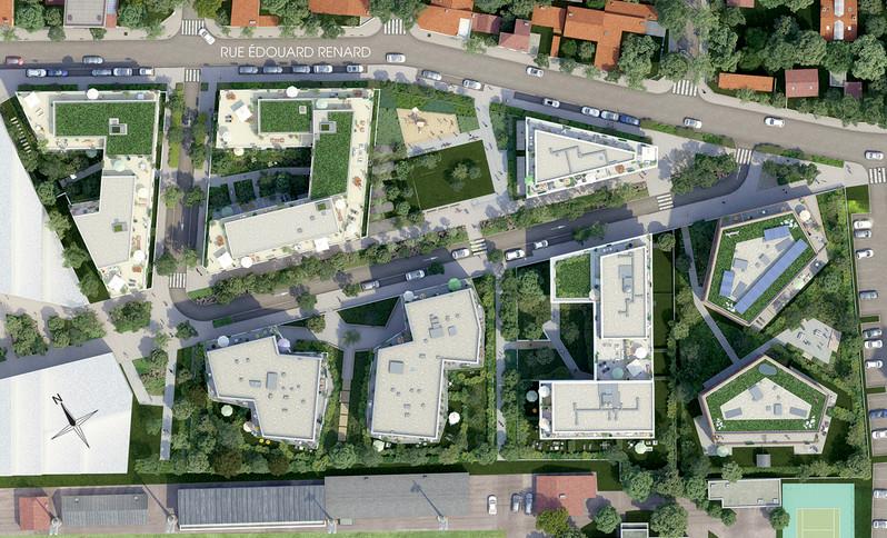 Plan masse du quartier Les Pantinoises