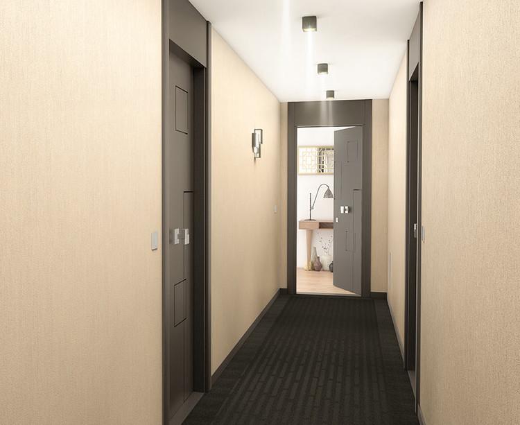 Palier d'étage du programme immobilier 120 Danton à Levallois