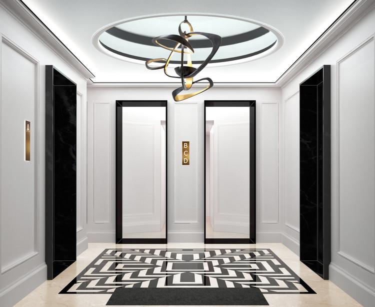Hall d'entrée du programme immobilier Bac-Raspail-Grenelle à Paris 7