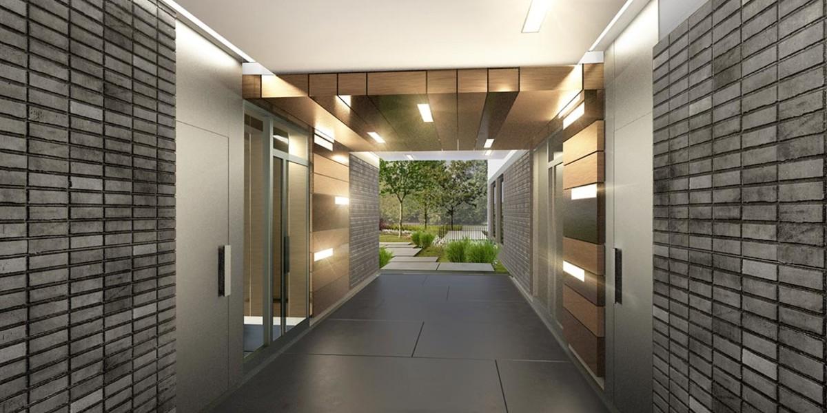 Hall d'entrée du programme immobilier neuf Mail de l'Hôtel de Ville à La Courneuve