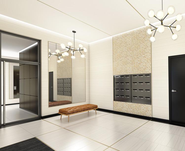 Hall d'entrée du programme neuf Rue Edouard Renard à Pantin