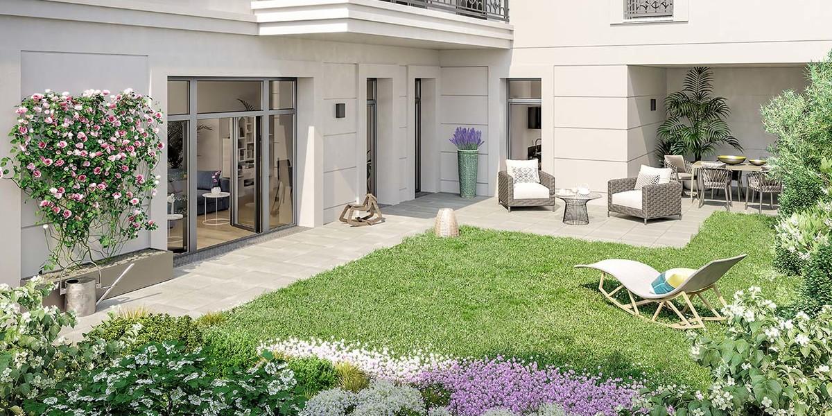 Appartement avec jardin privatif du programme 120 Danton à Levallois