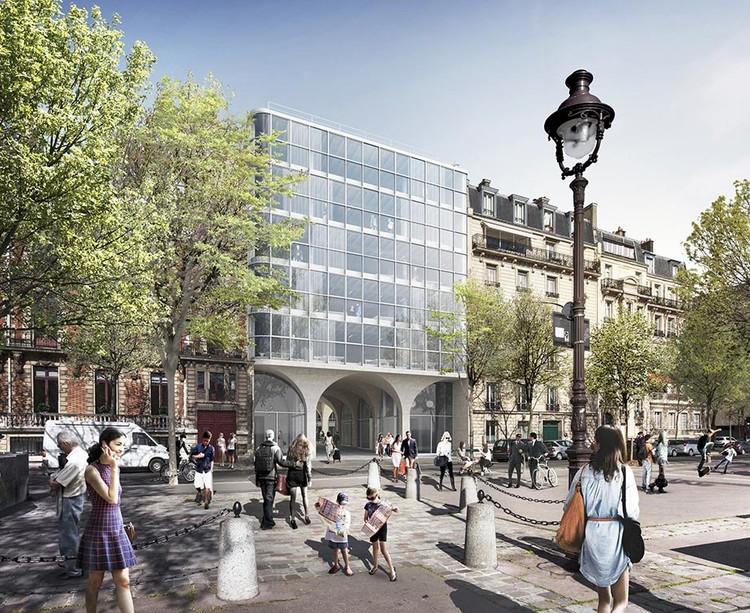Programme immobilier Rue Agrippa d'Aubigné à Paris 4 vu depuis le Quai Henri IV
