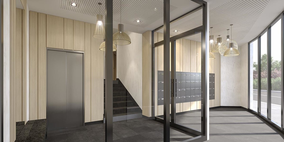 Hall d'entrée du programme immobilier neuf 1 Rue de Craïova à Nanterre