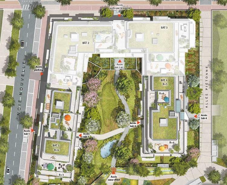Plan masse du programme immobilier neuf Rue des Bons Raisins à Rueil-Malmaison