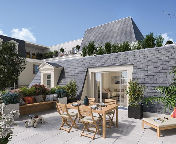 Terrasse du programme immobilier neuf 3 rue Saint-Denis à Colombes