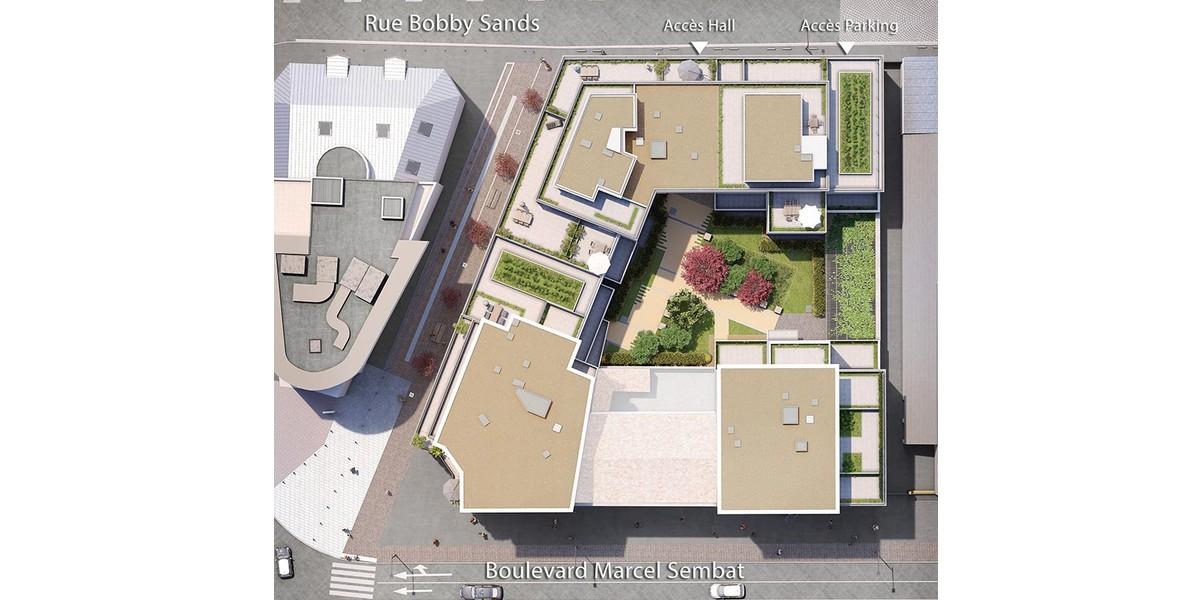Plan masse du programme immobilier neuf 1 Marcel Sembat à Saint-Denis