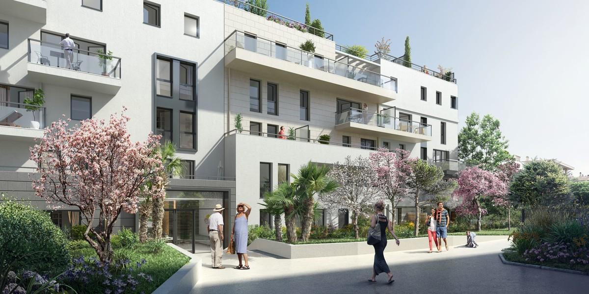 Jardin du programme immobilier neuf 72 Colonel Rochebrune à Garches