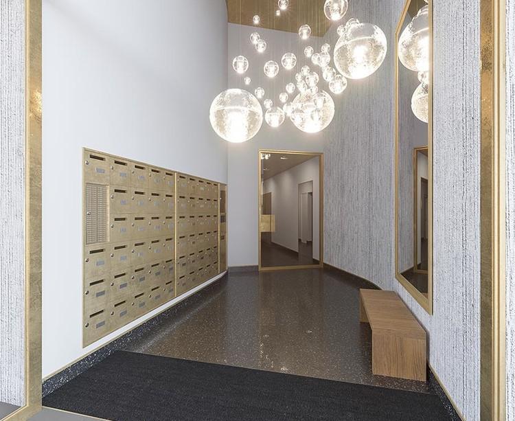 Hall d'entrée du programme immobilier neuf Place Félix Eboué à Paris 12