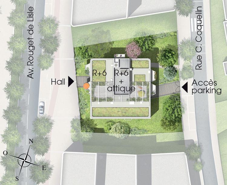 Plan masse de l'immeuble Kopo du programme neuf Variations à Vitry-sur-Seine