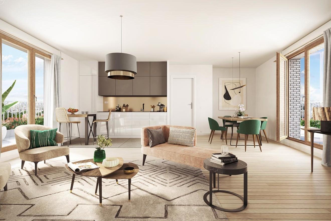 """Appartement du programme immobilier neuf """"Rue Petit"""" à Paris 19"""