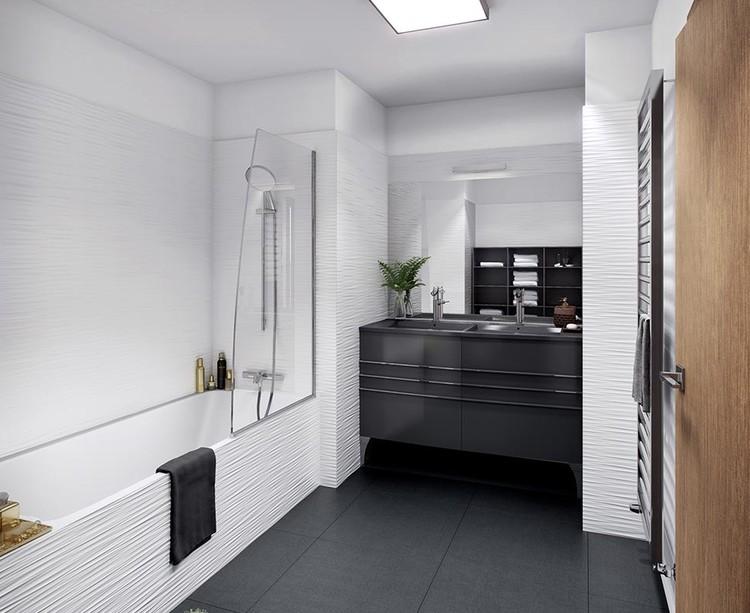 Salle de bains d'un appartement du programme Rue Agrippa d'Aubigné