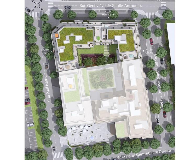 Plan masse du programme immobilier neuf 6 Rue Paul Héroult à Rueil-Malmaison